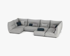 Roche Bobois Temps Calme Sofa 3D model