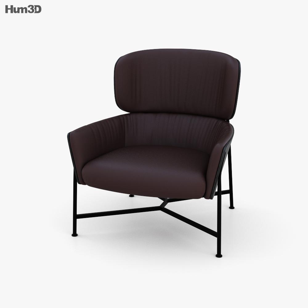 SP01 Caristo Low Back Armchair 3d model