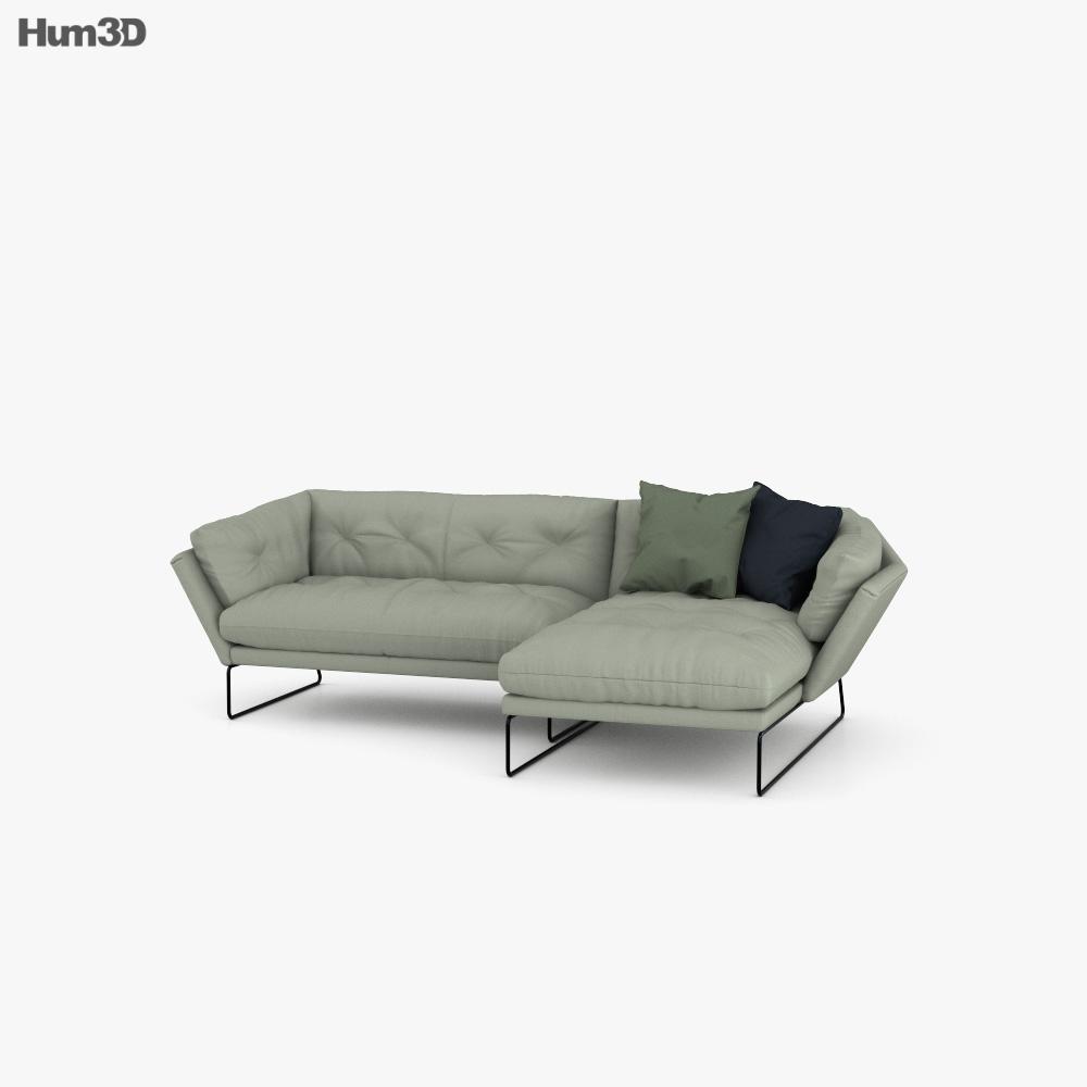 Saba Italia New York Corner sofa 3D model