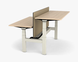 Steelcase Ology Bench Table 3D model