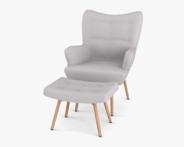 Temple and Webster Buckland Armchair 3D model