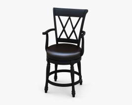 Traditional Swivel Bar stool 3D model