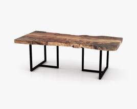 Urban Wood Slab Dining table 3D model