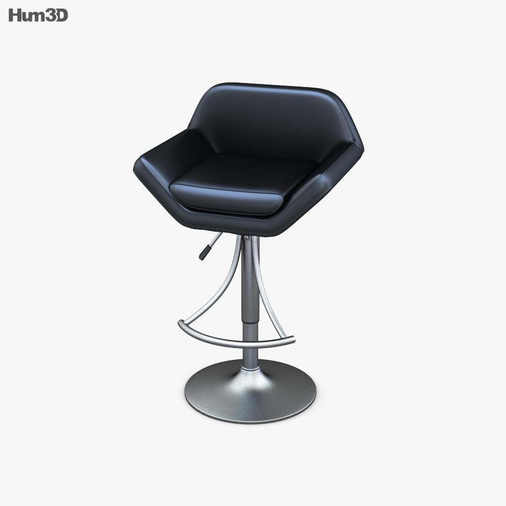 Valencia Adjustable Bar stool 3d model