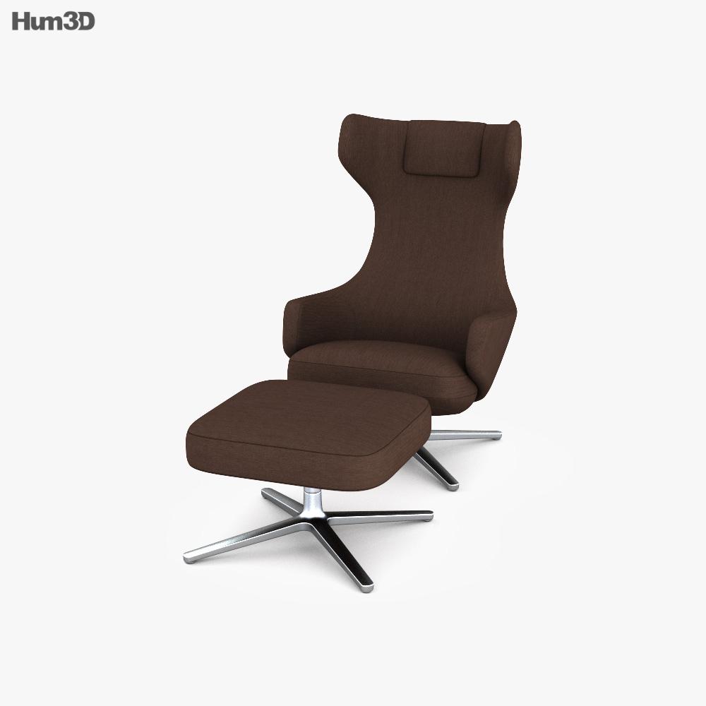 Vitra Grand Repos Chair 3D model