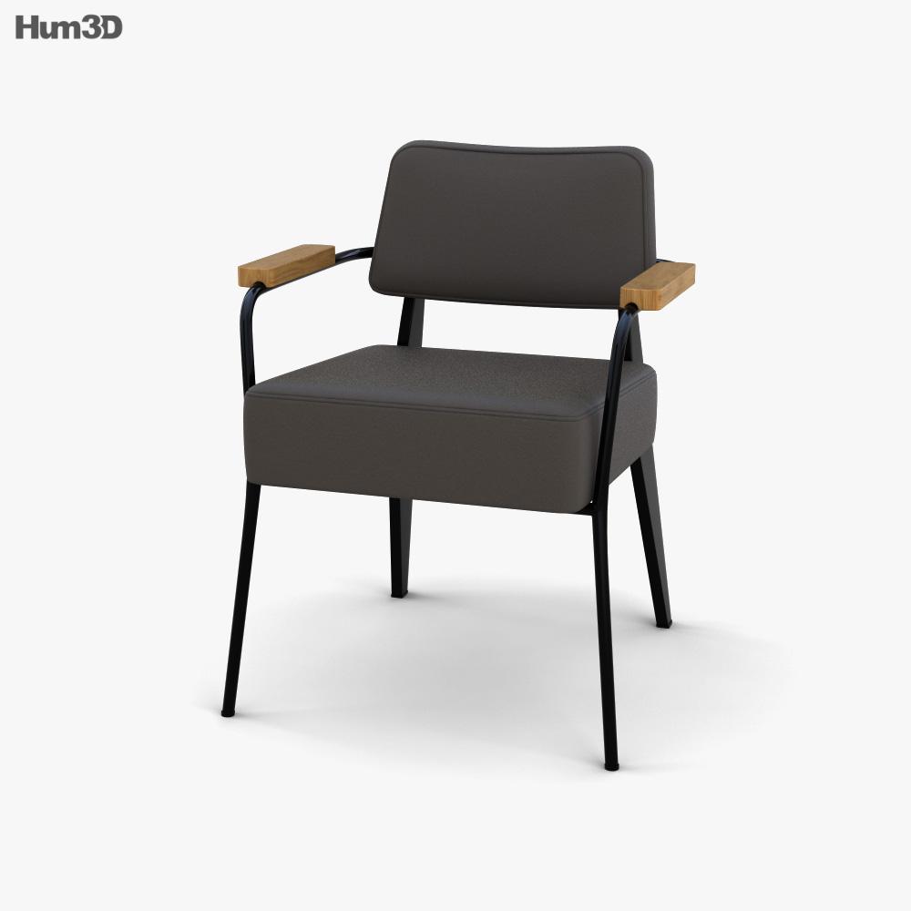 Vitra Fauteuil Direction Armchair 3d model