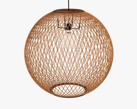 West Elm Wicker Globe Pendant lamp 3D model