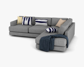 West Elm Haven Sectional sofa 3D model