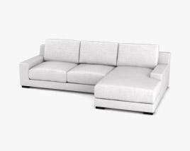 West-Elm Dalton Sectional sofa 3D model