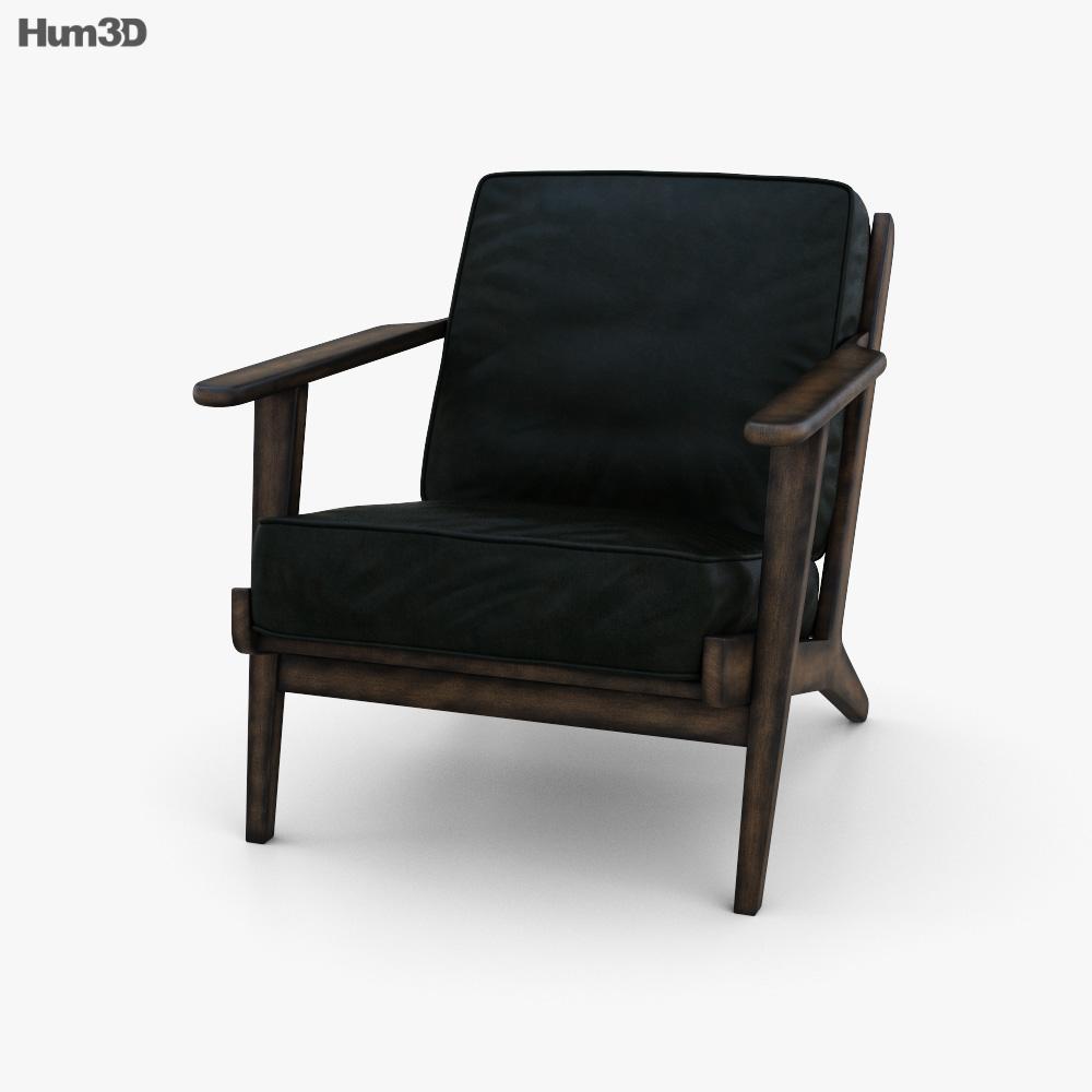 Zin Home Mid-Century Modern Brooks Chair 3d model