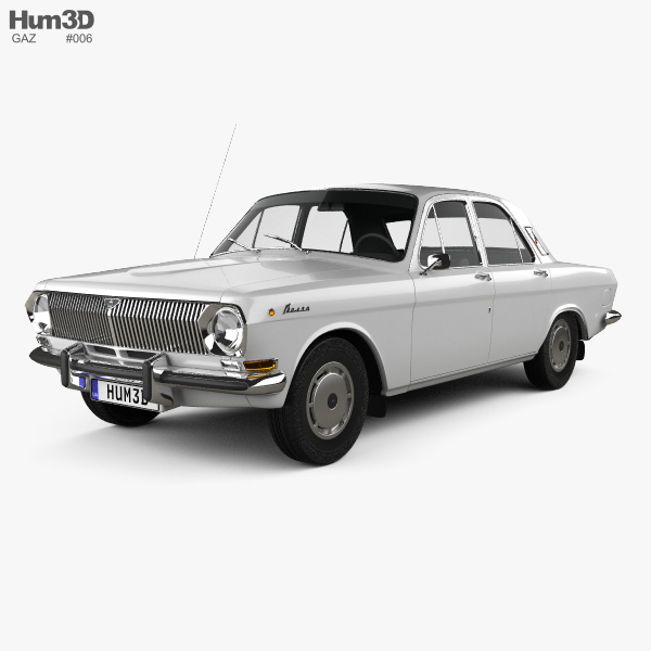 3D model of GAZ 24 Volga 1967