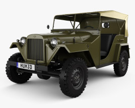 GAZ-67 1943 Military Vehicle 3D model