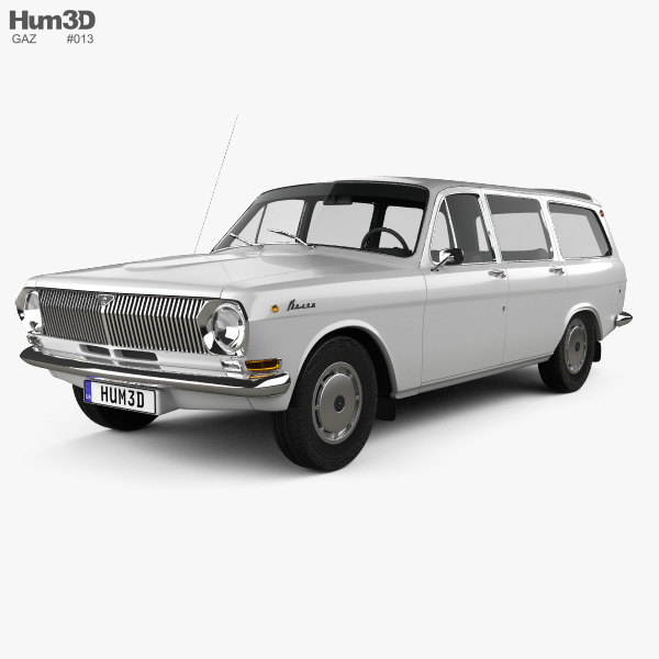 3D model of GAZ 24 Volga combi 1967