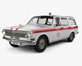 GAZ 24 Volga Ambulance 1967 3D model