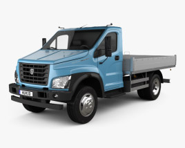 3D model of GAZ GAZon NEXT (C41R11) Flatbed Truck 2014