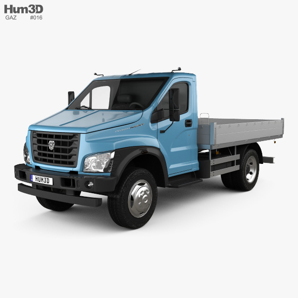 GAZ GAZon NEXT (C41R11) Flatbed Truck 2014 3D model