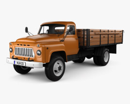 3D model of GAZ 53 Flatbed Truck 1965