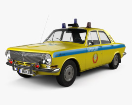 GAZ 24 Volga Militia 1967 3D model