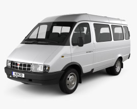 3D model of GAZ 3221 Gazelle Passenger Van 1996