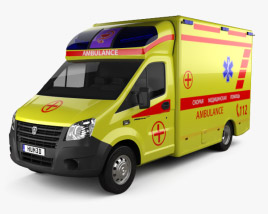 3D model of GAZ Gazelle Next Ambulance 2017