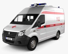 3D model of GAZ Gazelle Next Ambulance Luidor 2018