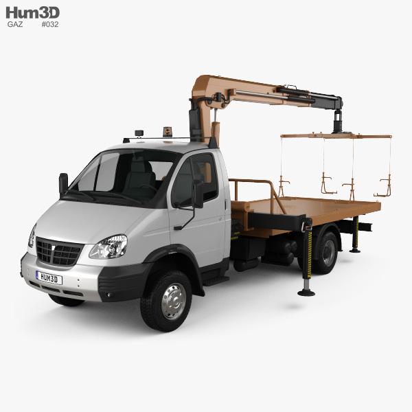 GAZ Gazelle Valday Tow Truck 2018 3D model