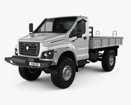 3D model of GAZ Sadko Next Flatbed Truck 2019