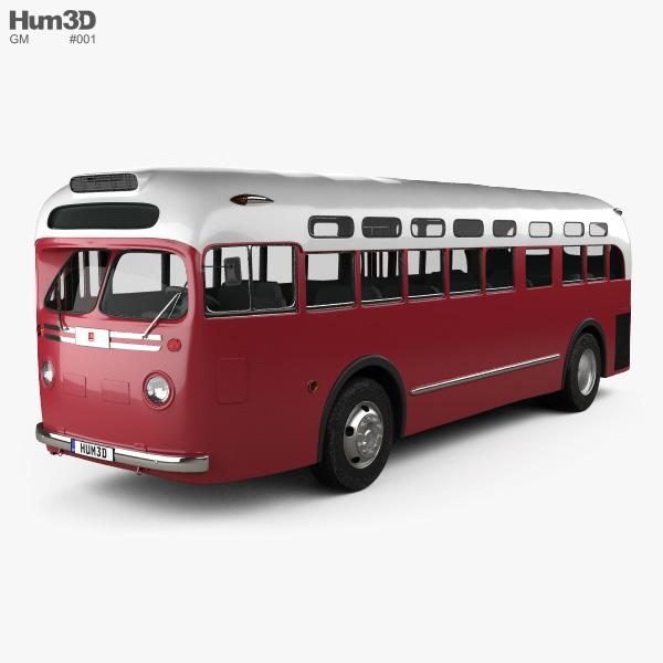 GM Old Look Transit Bus 1953 3D model
