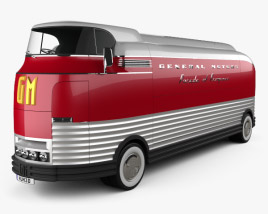 3D model of GM Futurliner Bus 1940