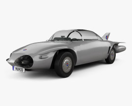 3D model of GM Firebird II 1956