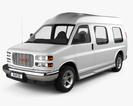 GMC Savana Cargo Van YF7 Upfitter 1997 3D model