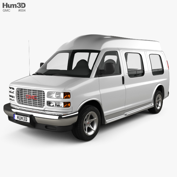 3D model of GMC Savana Cargo Van YF7 Upfitter 1997