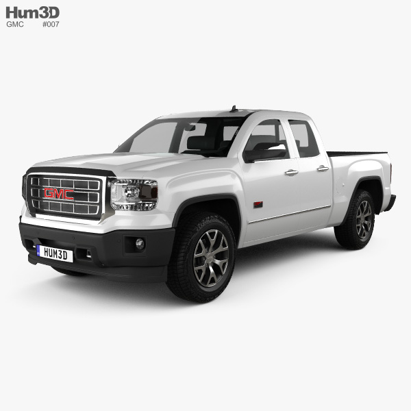 3D model of GMC Sierra Crew Cab 2013