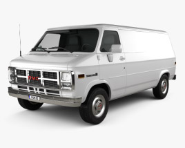 3D model of GMC Vandura Panel Van 1992