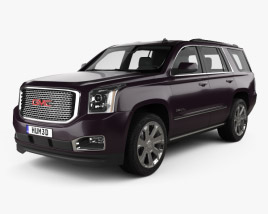 3D model of GMC Yukon Denali 2014