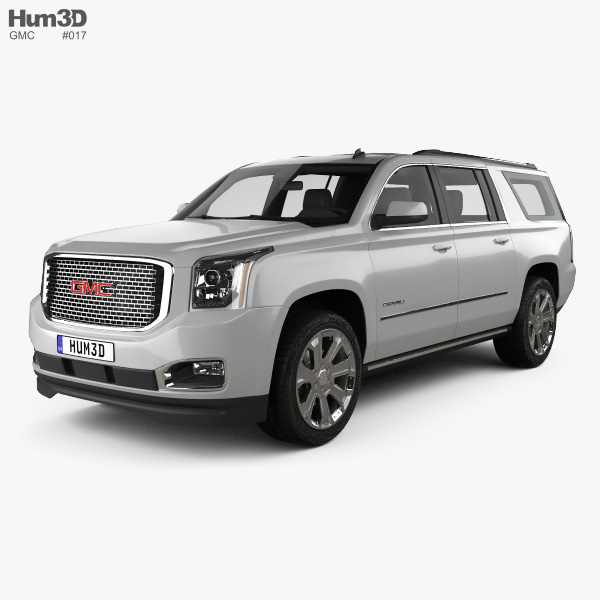 3D model of GMC Yukon XL Denali 2014