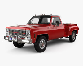 3D model of GMC Sierra Grande 454 Pickup 1979