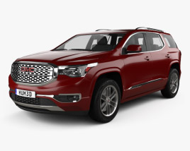 3D model of GMC Acadia Denali 2017