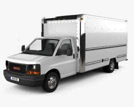 3D model of GMC Savana Box Truck 2012