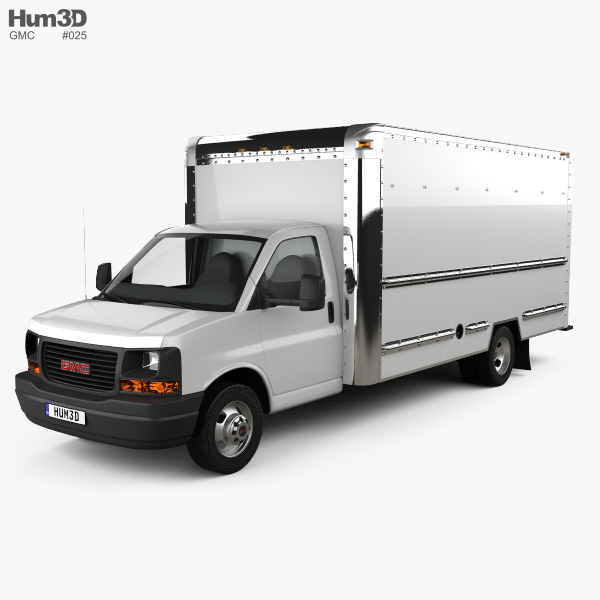 GMC Savana Box Truck 2012 3D model