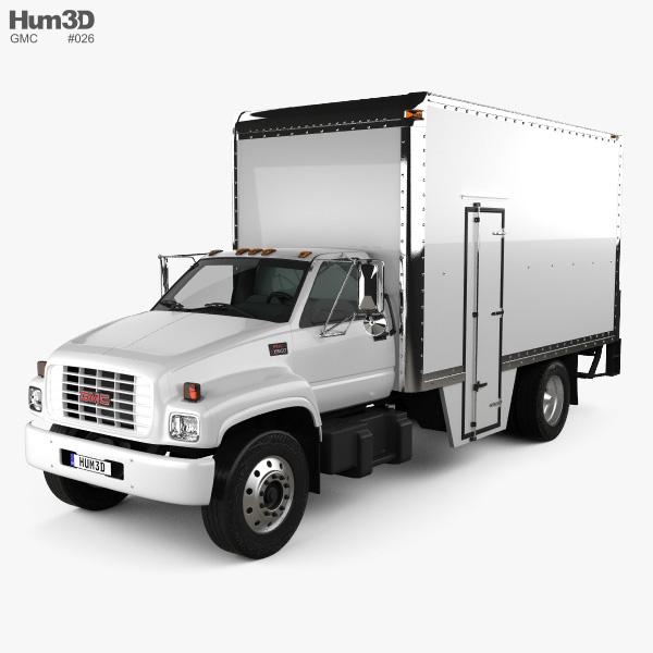 GMC Topkick C6500 Box Truck 1990 3D model