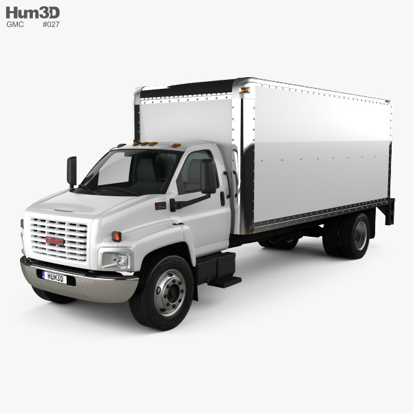 GMC Topkick C6500 Box Truck 2003 3D model