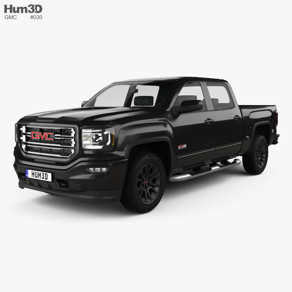 3D model of GMC Sierra 1500 Crew Cab Short Box All Terrain 2017