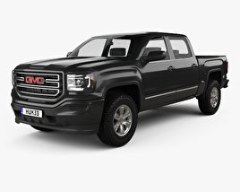 3D model of GMC Sierra 1500 SLE Crew Cab Short Box 2017
