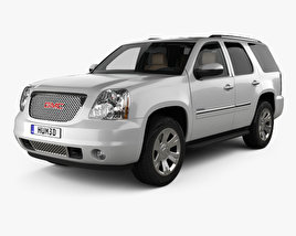 3D model of GMC Yukon Denali with HQ interior 2012
