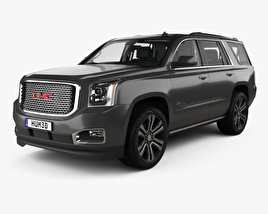3D model of GMC Yukon Denali with HQ interior 2014