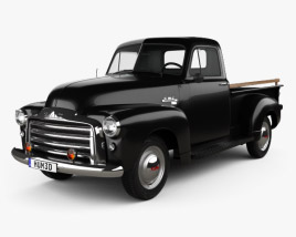 3D model of GMC 9300 Pickup Truck 1952
