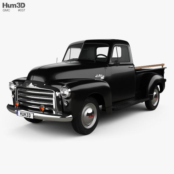 GMC 9300 Pickup Truck 1952 3D model