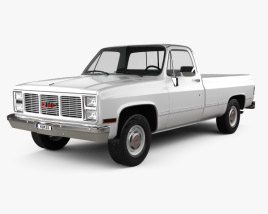 3D model of GMC Sierra 1985