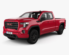 3D model of GMC Sierra 1500 Double Cab Standard Box Elevation 2019